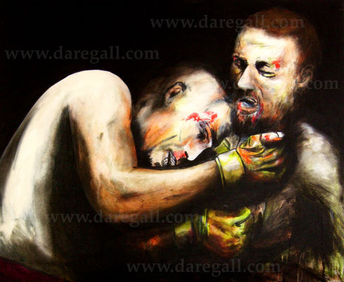 'McGregor VS Diaz II' Técnica mixta sobre tela 81x66 cm     ©2016 daregall.com