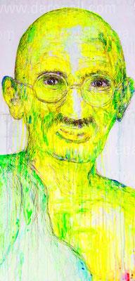 Mahatma III   Acrílico sobre tela 50x100 cm    ©2016 daregall.com