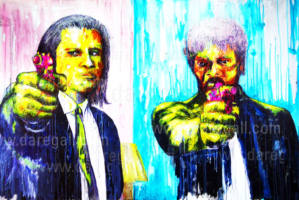 Pulp Fiction VIII Acrílico sobre tela 150x100 cm   ©2016 daregall.com