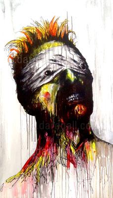 Bowie VII Técnica mixta sobre tela 66x115 cm     ©2016 daregall.com