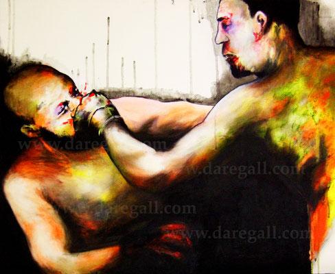 'McGregor VS Diaz VI' Técnica mixta sobre tela 81x66 cm     ©2016 daregall.com