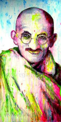 Mahatma VII    Acrílico sobre tela 50x100 cm    ©2016 daregall.com