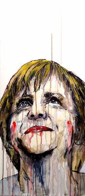 Merkel II   Acrílico sobre tela 41x92 cm   ©2016 daregall.com
