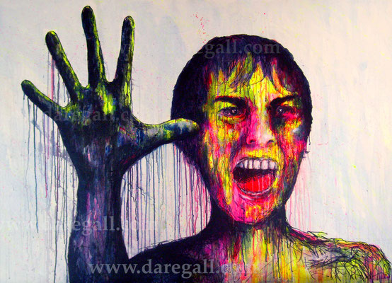 Psicosis IV Acrílico sobre tela 150x100 cm   ©2016 daregall.com