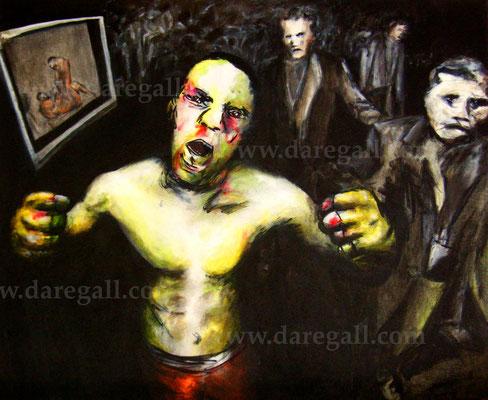 'McGregor VS Diaz VIII' Técnica mixta sobre tela 81x66 cm     ©2016 daregall.com