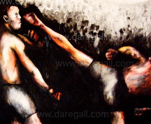 'McGregor VS Diaz V' Técnica mixta sobre tela 81x66 cm     ©2016 daregall.com