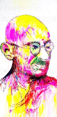 Mahatma I    Acrílico sobre tela 50x100 cm    ©2016 daregall.com