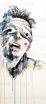 Bowie V Acrílico sobre tela 41x 92 cm     ©2016 daregall.com