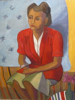 Hester Carsten (Den Haag, 1949), olieverf, 83x62 cm