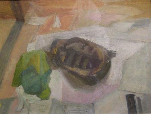 Daphné in het atelier (Den Haag, 1962), 27x36 cm