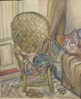 La chaise (Den Haag, ca. 1953), aquarel, 54x45 cm