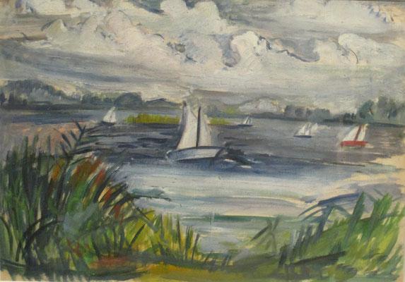 Zeilen met Margemma (Reeuwijk, 1943), 26x36 cm