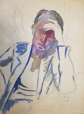 Maman_1 (Den Haag, 1950), aquarel, 39x29 cm