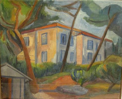Maison de maître (Juan-les-Pins, 1932), olieverf, 37x45 cm