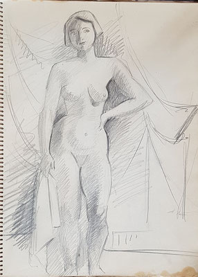 Study for Nude with white towel (Paris, ca. 1933-1934)