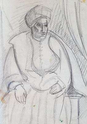 Etude pour l'Arabe (vers 1933-1934)