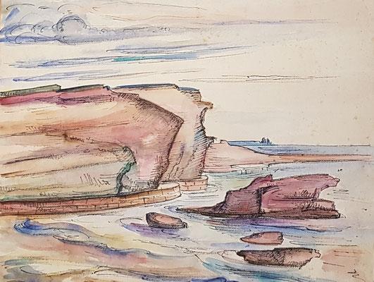 Mer Noire (Istanbul, 1937), aquarel en Oost-Indische inkt, 31x38 cm