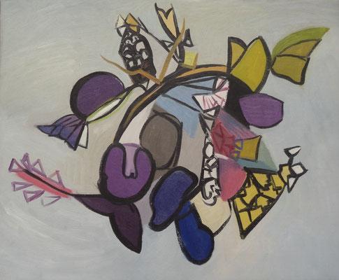 Bloemen (Den Haag, 1954), olieverf, 45x54 cm
