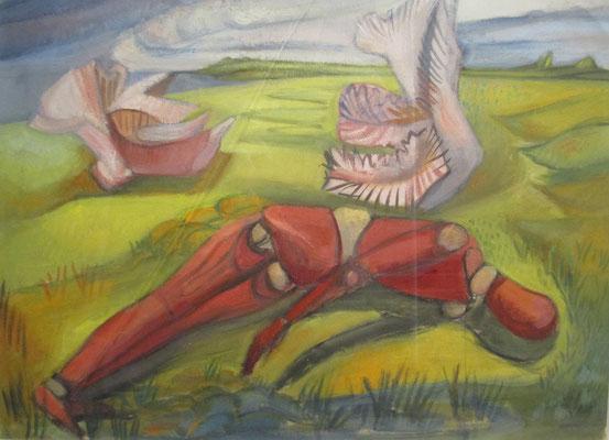 Pop en schelpen (Parijs, ca. 1939), olieverf, 37x45 cm