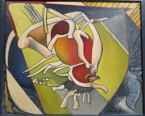La vie (Parijs, ca. 1930), olieverf, 37x45 cm. Dit schilderij werd op een tentoonstelling omstreeks 1930 in Metz geëerd met een Diplôme de Médaille d'Or. Daarom heeft Julie dit werk nooit willen verkopen.