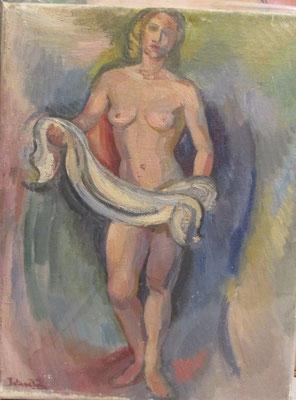 Ella (Den Haag, 1941), olieverf, 40x31  cm