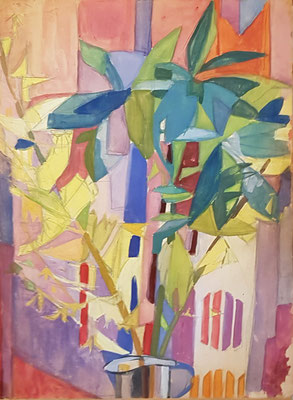 Bloemenvaas_5 (Den Haag, 1960), aquarel, 49x36 cm
