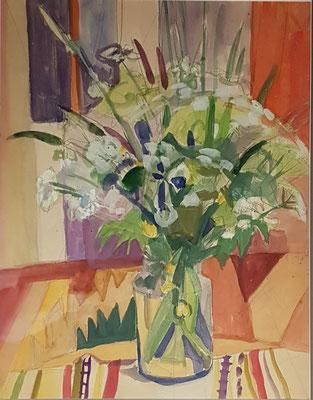 Bloemenvaas_3 (Den Haag, 1960), pastel, 49x36 cm