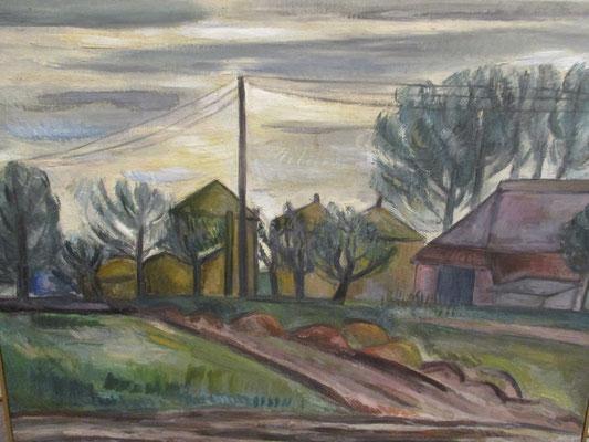 Boerderij_1, (Tiel, 1942), olieverf, 49x64 cm