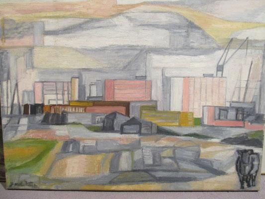 Laakhaven (Den Haag, 1970), pastel, 54x74 cm