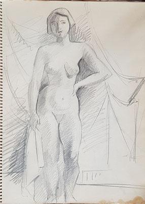 Voorstudie Naakt met witte handdoek (Parijs, ca. 1933-1934)
