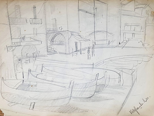 Study for Port of Villefranche-sur-Mer (ca. 1933-1934)