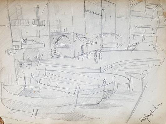 Study for Port of Villefranche-sur-Mer (ca. 1933-1934)