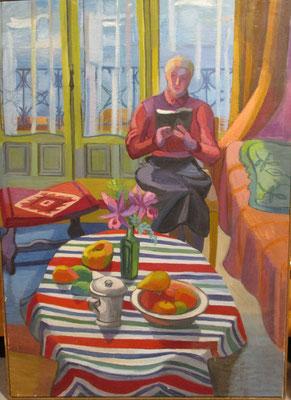 Maman lie, (Den Haag, 1953) , olieverf, 89x64 cm
