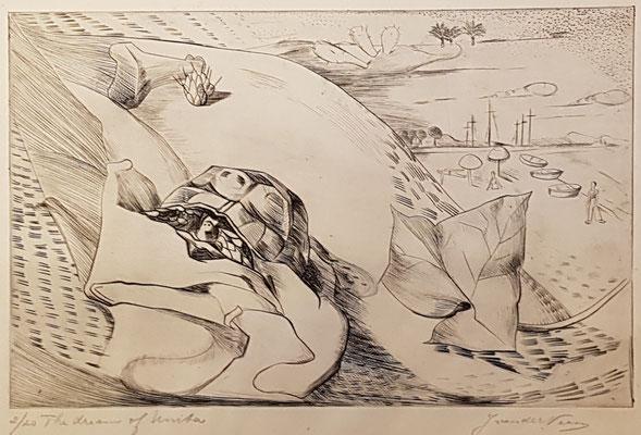 The dream of Unita (Parijs 1938), ets, 17x25 cm