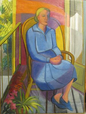 Maman pense (Den Haag, 1956), olieverf, 72x53 cm