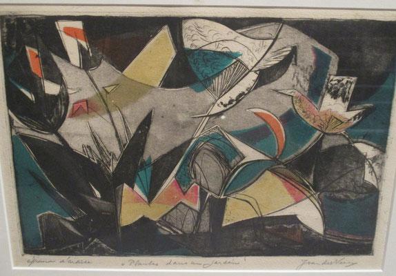 Fleurs au jardin_3 (Parijs, 1939), kleurets, 21x29 cm