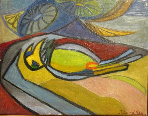 Dode vogel (Den Haag, 1954), olieverf, 24x30 cm