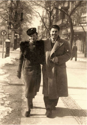 Julie avec Yunis Bahri à Berlin (mars 1940)