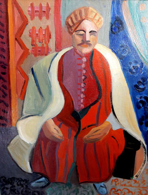 Arab (about 1933-1934), oil paint, 59x49 cm