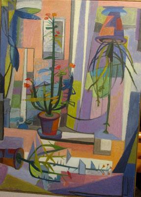 Zwevende christusdoorns (Den Haag, 1969), olieverf, 90x65 cm