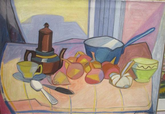 Stilleven (Parijs, 1947), olieverf, 91x66 cm