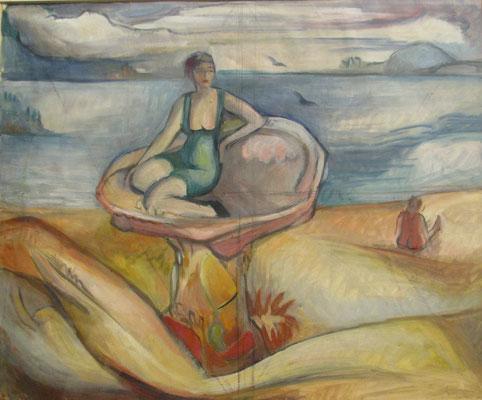 La perle (Parijs, 1938), aquarel, 37x45 cm