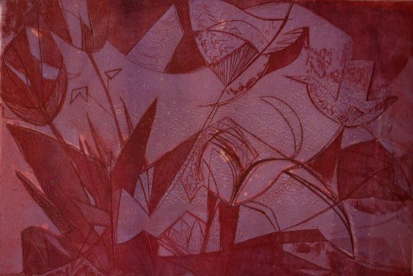 Fleurs au jardin_2, (Parijs, 1939), kleurets, 19x28 cm