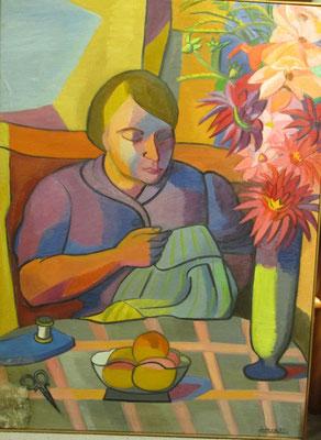 Madeleine Frottier (Parijs, 1947), olieverf, 96x70 cm