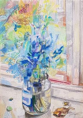 Bloemenvaas_6  (Den Haag, 1965), pastel, 38x28cm