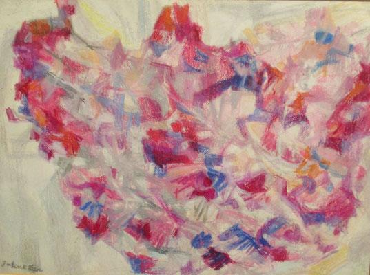Eén van de laatste werken van Julie  (Den Haag, ca. 1978), pastel, 29x41 cm