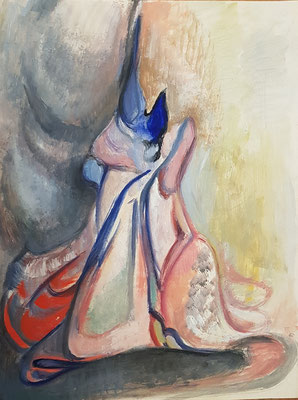 Fantaisie_2 (Den Haag 1941), aquarel, 32x25 cm