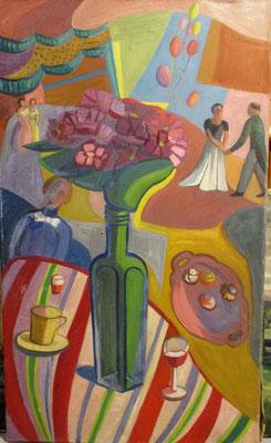 Réception (Den Haag, 1953), olieverf, 85x50 cm