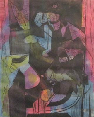 Sans titre-2 (Paris, 1935), gravure en couleur, 30x24 cm