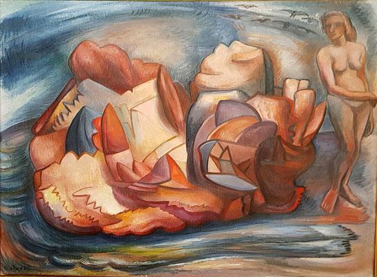 Coquilles (Paris, 1950), peinture à l'huile, 53x72 cm